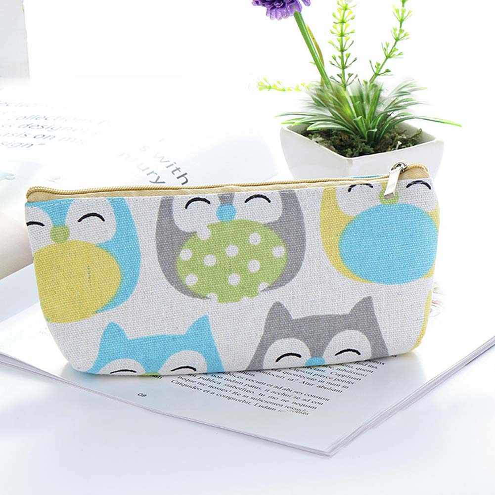 Cartoon Cute Tangerine Elephant Lion Owl Animal Pencil Case Box Stationery  Pouch Bag School Student Gift