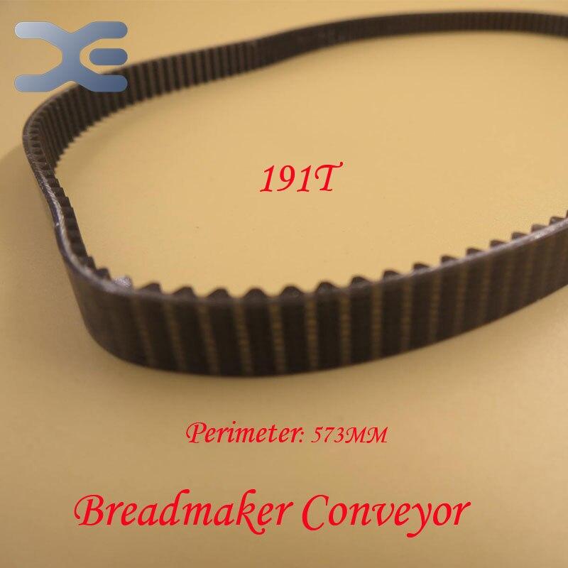 Kitchen Appliance Parts 5Per Lot 191T Perimeter 573mm Bread Maker Parts Breadmaker Conveyor Belts