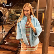 Mink Fur Coat Luxury  Winter Womens Parka With Natural Fur Short Mink Coat Full Pelt Genuine Mink Fur Jackets Woman Overcoats