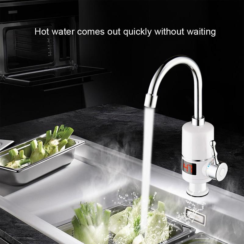 KBAYBO 3000W electric water heater Tankless Electric hot water tap Electric Water Heater Bathroom Kitchen instant цены