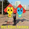Envío de la alta calidad tela de nylon ripstop cometas hellokitty 10 unids/lote juguetes de aves volar kt gato niños cometas de kitesurf fábrica
