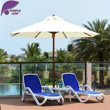 Purple Leaf Patio Umbrella 9.84 Ft Market Outdoor Glass Fibre Table Cafe  Beach Sombrilla De Playa Round Without Base