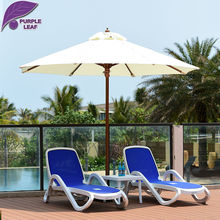Purple Leaf Patio Umbrella  9.84 ft Market Outdoor Glass fibre Table Cafe Beach Sombrilla de playa Round without base