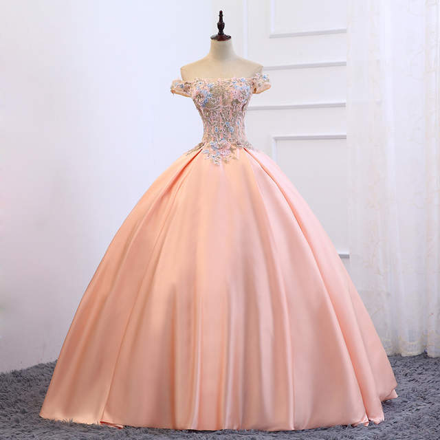 6a6c6f97ed Blue Turquoise Hot Pink Prom Dresses 2018 A-Line Beaded Lace Tulle Vestidos  De 15 Long Prom Gown For Girl