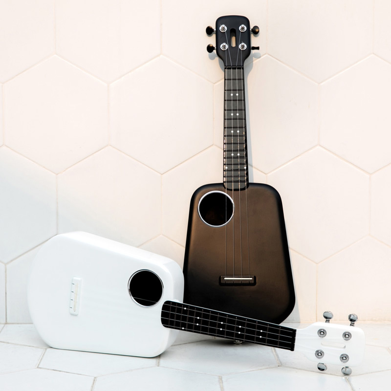 Populele 2 LED Smart Soprano Ukulele Concert From Xiaomi Bluetooth Ukulele 4 Strings 23 Inch White Acoustic Electric Guitar Uke