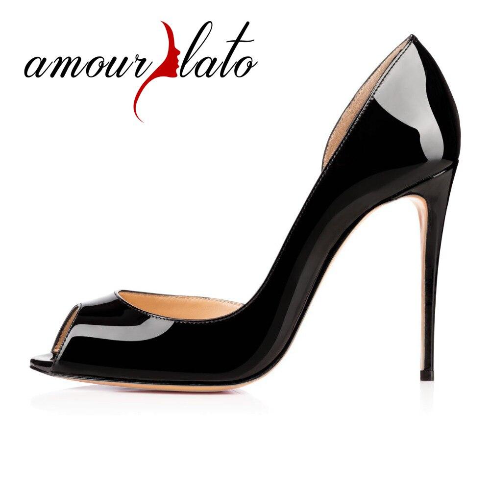17f07028006 Amourplato Ladies Hi-Fashion Sweet Women Handmade Fashion Aimi Youernis  100mm Peep Toe Sexy Party