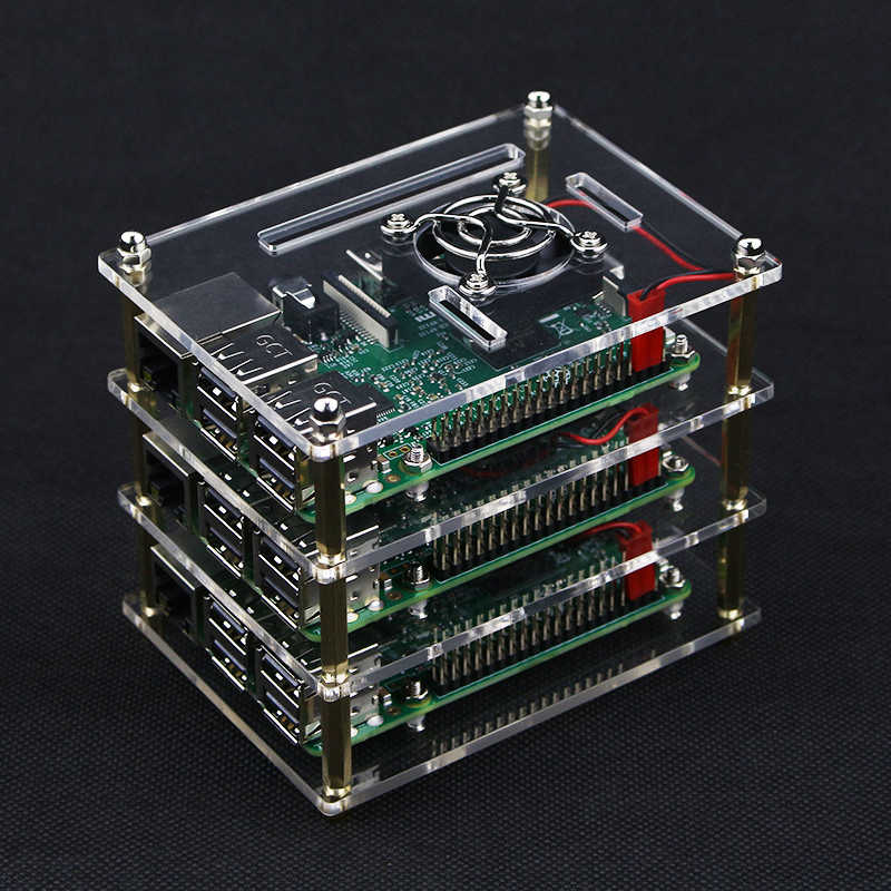 Raspberry Pi Cluster Case with Fan Kit, 1 5 layer Multi