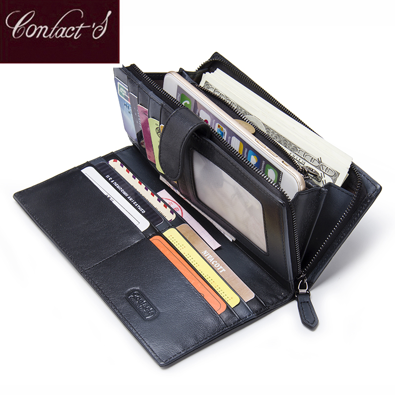 New Genuine Leather Women Long Clutch Wallets Fashion Knitting Female Zipper Coin Purse Card Holder With Phone Bags Pocket contacts 2018 new brand design genuine leather woman wallets cell phone card holder female purse clutch women purse with zipper