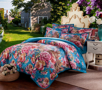 100% хлопок хороший цветок жаккардовые Цветочные Роскошные Королевский Постельное белье King Queen Свадебные кровать Простыни пододеяльник множ