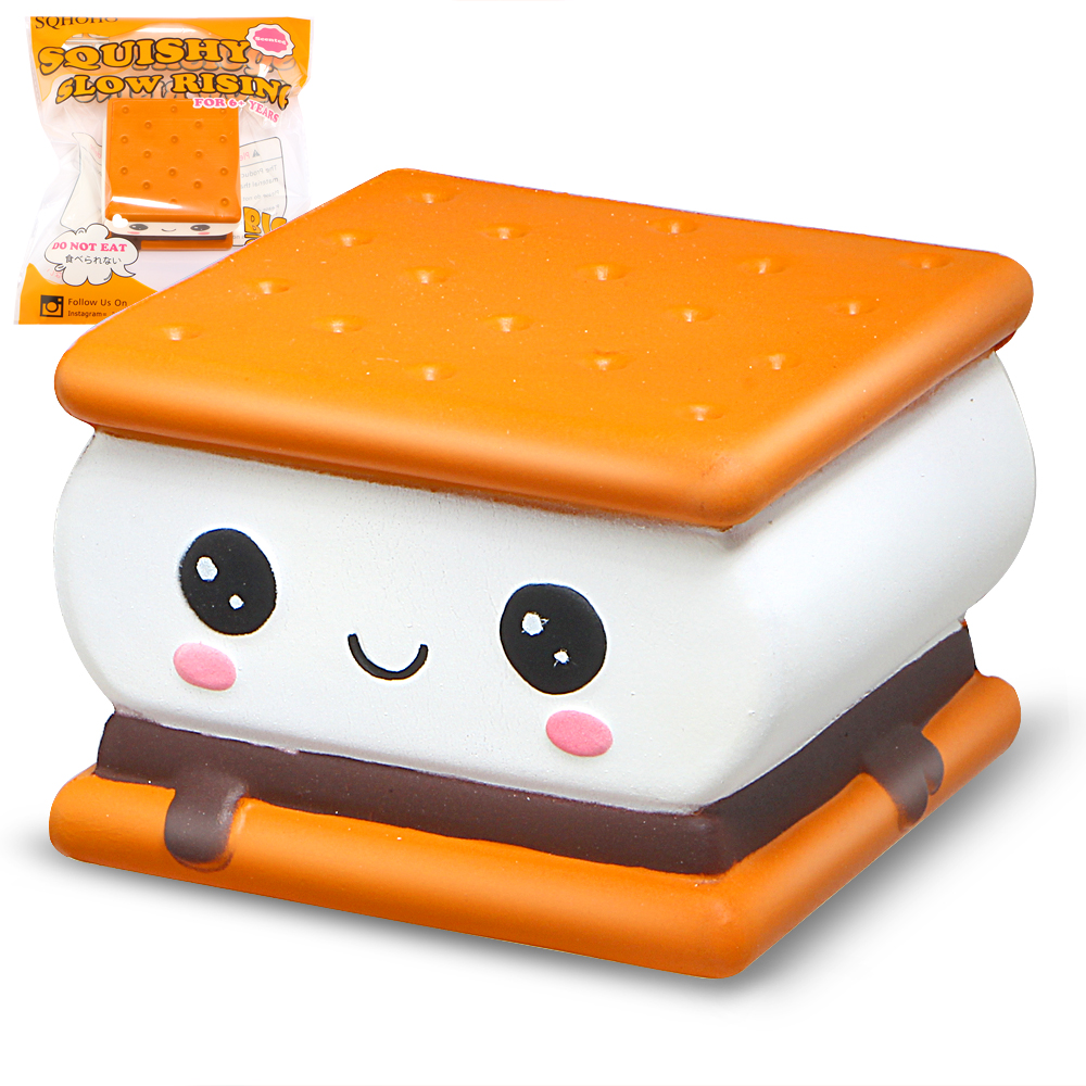 Cartoon Squishy Chocolate Biscuit Squishies Slow Rising Cream Scented Original Package Kids Toy Gift