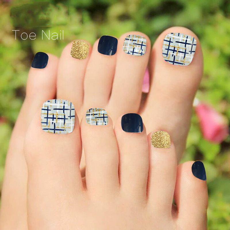 24pcs/lot New Design Full Nail Tips Toe Patch Acrylic Fake Toenails