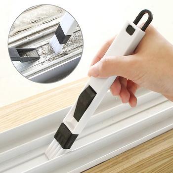 Mini 7 kształt ręczna szczotka do okna pinceis nowość gospodarstwa domowego do czyszczenia okien chuang cao szczotka do czyszczenia rowków klawiatura narożna tanie i dobre opinie Włókniny z włókna Plac