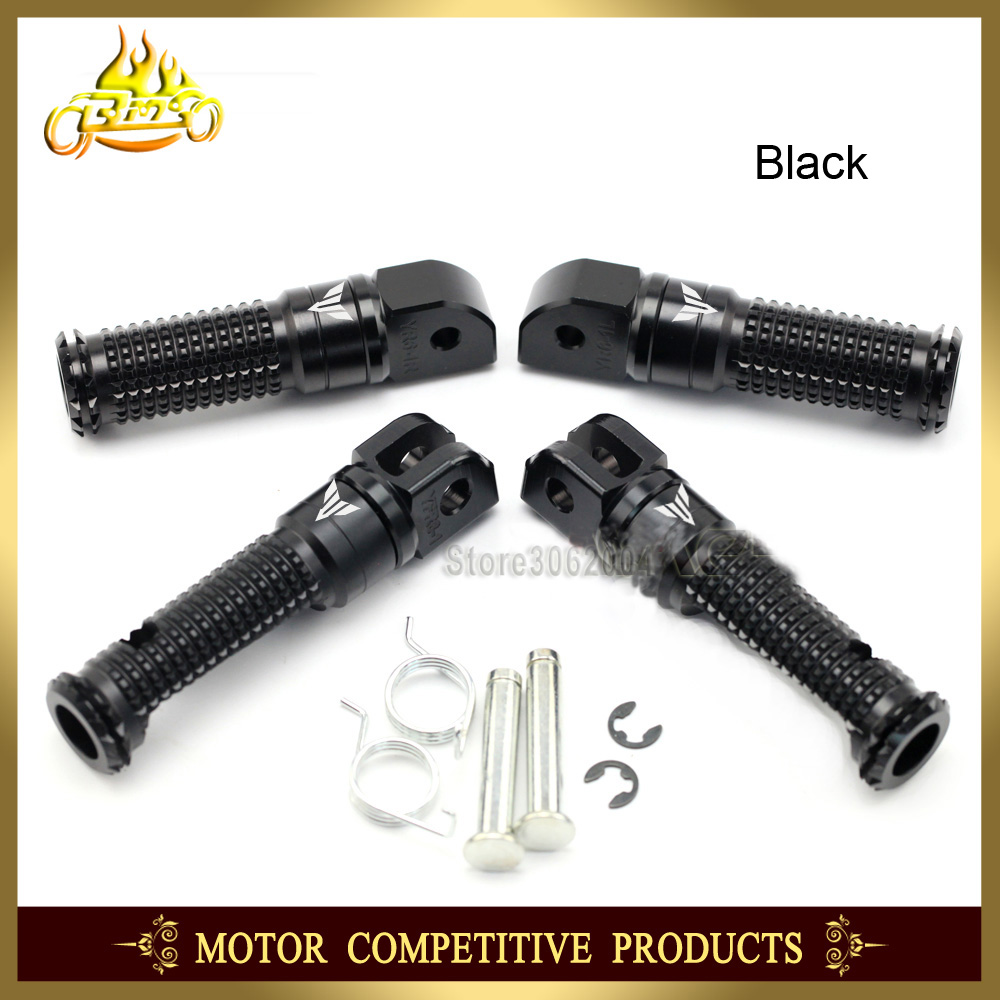 Rider Passenger Front & Rear Foot Pegs Peg Footrest Adapter For YAMAHA MT10 MT09 MT07 Tracer MT-09 MT-07 MT-10 2018 With Logo