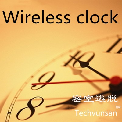 wireless clock put the right time to open the lock prop Takagism game real life escape room tools