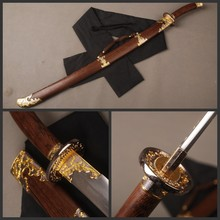 Details about Rosewood Saya Chinese Qing Dynasty Type Sword