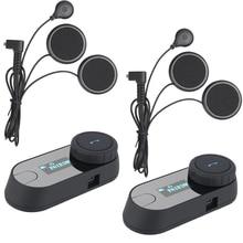 2pcs 2016 Version TCOM-SC BT Bluetooth Motorcycle Helmet Intercom Interphone Headset LCD screen FM Radio+Soft Earphone