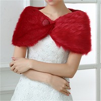 2018 New Faux Fur Shawl Bridal Wedding Jackets Shawl Wedding Coats Jackets Boleros Warm Bridal Wraps Capes Mingli Tengda