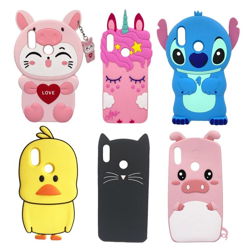 Zachte Siliconen Telefoon Case Voor Huawei P Smart 2019 Case Leuke 3D Stitch Kat Eenhoorn Back Cover Voor Honor 10 lite Luxe Funda Coque