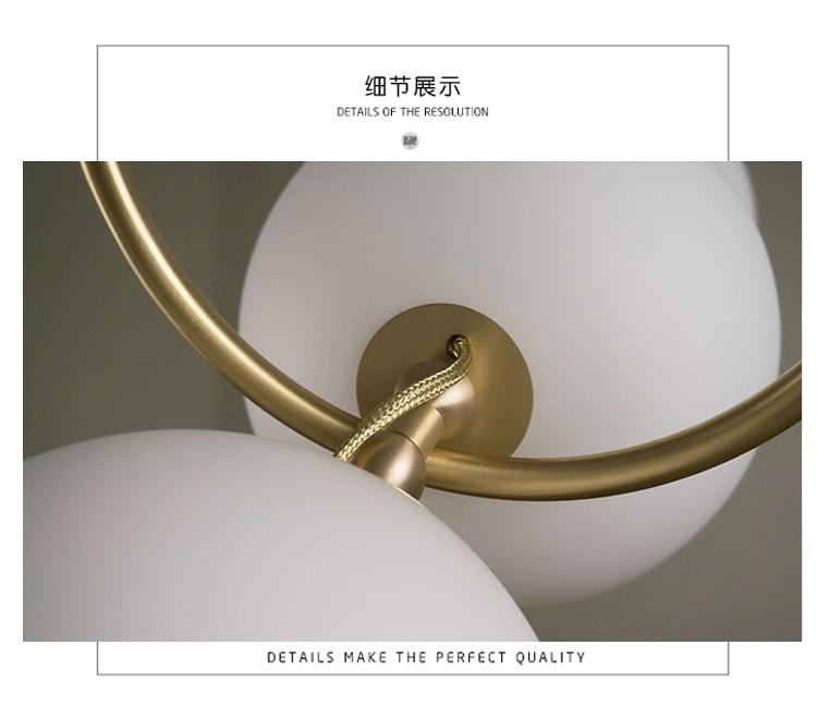 Bolas de vidro branco lustre design italiano