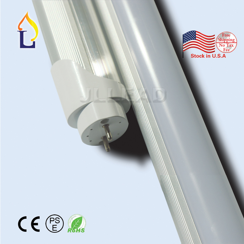 Stock aux etats-unis 500 pcs/lot T8 LED tube lumière 4ft 24 w SMD2835 LED AC110-277V fluorescente T8 lampe LED très brillante Tubes éclairage