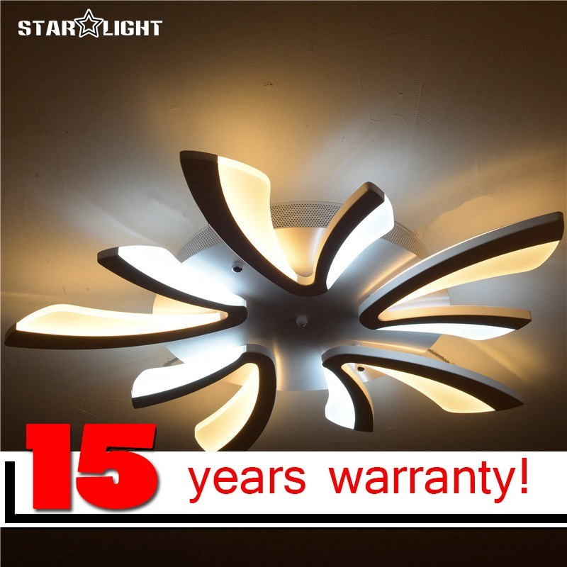 flush mount modern ceiling chandelier for living room Acrylic Bicolor light guide plate chandelier avize Home Lighting kamchatka modern guide