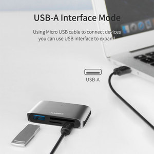 Image 3 - Hagibis Type C Card Reader USB C To USB 3.0 SD/Micro SD/TF OTG Card Adapter For Laptop/USB C Phone TypeC Multifunction Converter