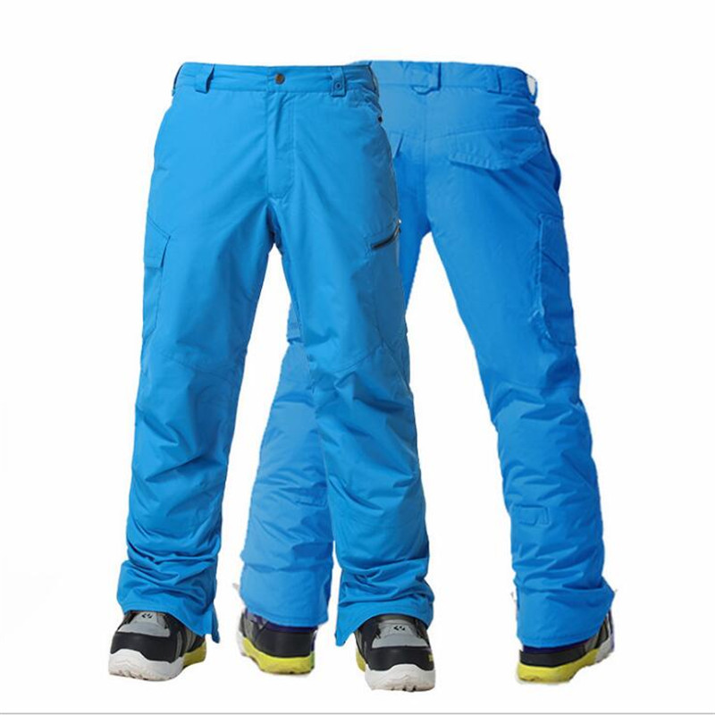 Waterproof Winter Ski Pants Men Thicken Warm Snowboard Pants Ski Trousers Belt Outdoor Sports Many styles multiple colors