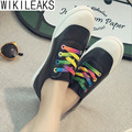 Wikileaks 2016 New Fashion Women Casual  Breathable Shoes Woman Flat With Candy Color Lace-up Student Shoes Zapatos Mujer