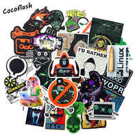 50pcs/lot Programming Geek Hacker Developer Language JAVA Logo Series For Laptop Motorcycle Skateboard waterproof DIY Stickers