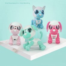 UInteractive Smart Puppy Robot Intelligent Robotic Dog Touch Electric Toy LED Eyes Sound Recording Sing Sleep Cute