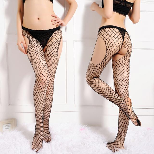 Envío libre Sexy mallas medias rodeadas de malla abierta pantimedias medias pantalones netas medias de red de malla calada tentar