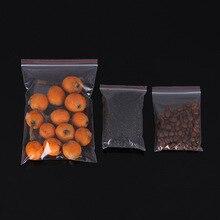100pcs/lot Small Zip Lock Plastic Bags Reclosable Transparent Jewelry Food Storage Bag Kitchen Package Clear Ziplock B