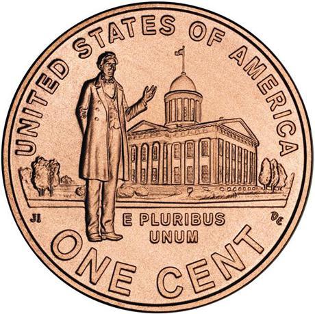 zweihundertjähriges, 2009 1 Cent Penny Usa Vereinigten Staaten Festsetzung Der Preise Nach ProduktqualitäT 19mm Professionelle Leben In Illinois