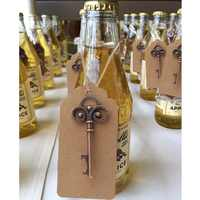 OurWarm 100pcs Wedding Favors Bronze Skeleton Key Bottle Opener with Tag Card Vintage Style Party DIY Decorations