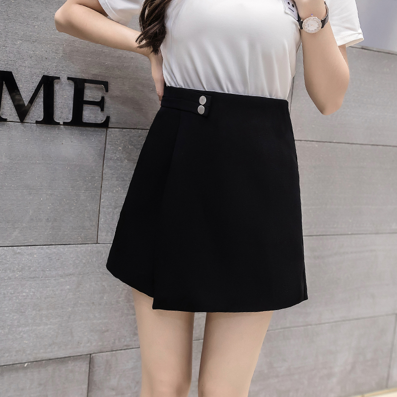 2020 New Women Shorts Skirts Spring Fashion High Waist Shorts Female Casual Loose Culottes Woman Black/Pink/White Summer Shorts 2