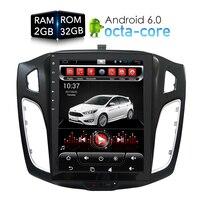 Tesla HD экран Автомобильный dvd плеер Android 6,0 GPS Navi мультимедиа для Ford Focus 2 Din 2012 2013 2014 2015 RDS радио аудио стерео