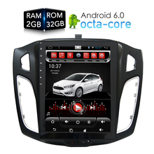 купить Tesla HD Screen Android 6.0 Car DVD Player GPS Navi multimedia for Ford Focus 2 Din 2012 2013 2014 2015 RDS Radio Audio Stereo дешево
