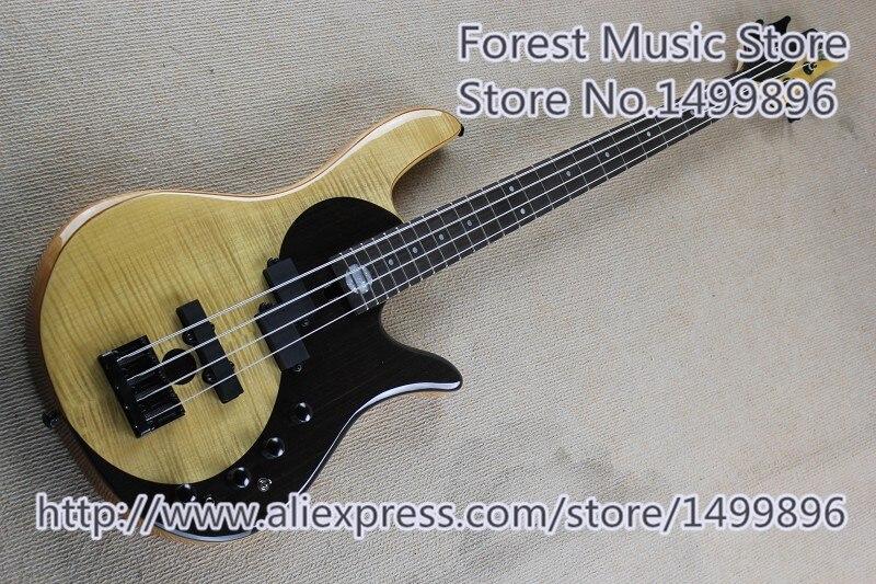 Nueva llegada de China Fodera bajo guitarra eléctrica 4 cuerdas Yin Yang bajo envío gratis