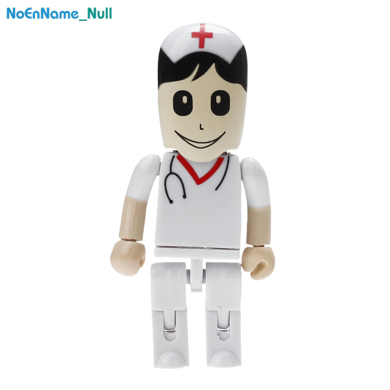 USB 2.0 PenDrive 128GB high quality 32GB Nurse USB Flash Drive 64GB for gift portable Pen Drive dentist plastic Storage u disk-in USB Flash Drives from Computer & Office