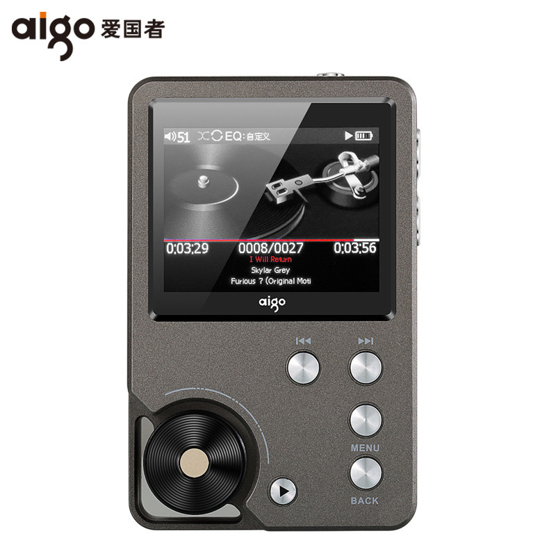 AIGO MP3-105 HIFI Player Loseless Portable MP3 Mini with Hi-res Flac TFT Screen WM8965 Mini Portable DSD Sport EQ adjustable