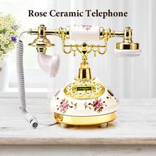 Ceramic European Telephone American - Style Landline Retro Innovative High End For Home Office Decor