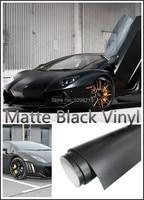 30cm X152cm Matte Black Vinyl Wrap Air Release Bubble Free Sticker Decal Film Tape Emblem
