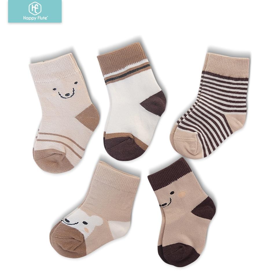 HappyFlute 5pairs/lot  Cotton Baby Socks Set Spring/autumn Winter New Infant Toddler  Socks