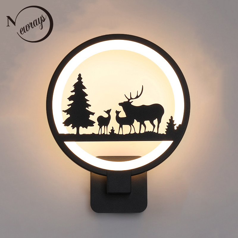 цена на Modern novelty cartoon resin creative wall lamp LED 220V with button switch wall lights for bedroom living room office hotel bar