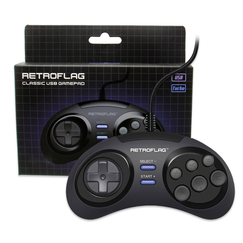 Retroflag MEGAPi/NESPi/SUPERPi Case/Retropie Classic USB Wired Gamepad Game Controller For PC/Switch/Rasbperry Pi 3 Model B+Plus