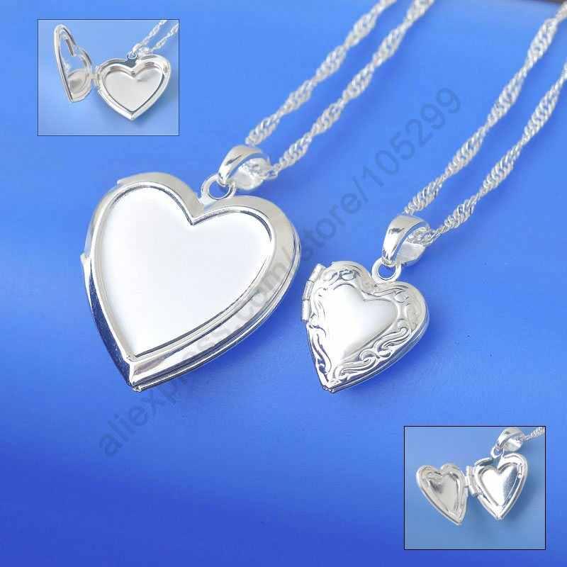 Новое поступление 1 шт. ожерелье из подлинного стерлингового серебра 925 пробы, ювелирное ожерелье с подвеской для женщин, ожерелье для семейных фотографий