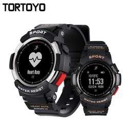 TORTOYO F6 Bluetooth Smart Watch IP68 Водонепроницаемый Плавание монитор сердечного ритма удаленного Камера gps Спорт Smartwatch синхронизации для iOS Android