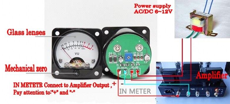 Image 4 - 2pcs 45mm Big VU Meter Stereo Audio Amplifier Board level Indicator Adjustable With DriverAmplifier