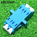 KELUSHI 10PCS Lc  fiber optic adapter fiber optic coupler double lc fiber optic connector lc duplex coupler
