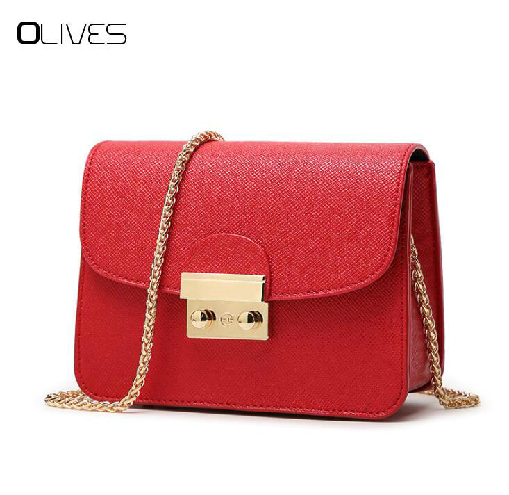 OLIVES Summer Brand Bags Women Leather Handbags Chain Small Women Messenger Bag Candy Color Women Shoulder Bag Party Lock Purse yeesupsei daily bag women leather handbag golden chain small women messenger bag candy color women shoulder bag party lock purse